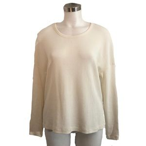 James Perse Women's Ivory Textured Tunic Top Sz 2